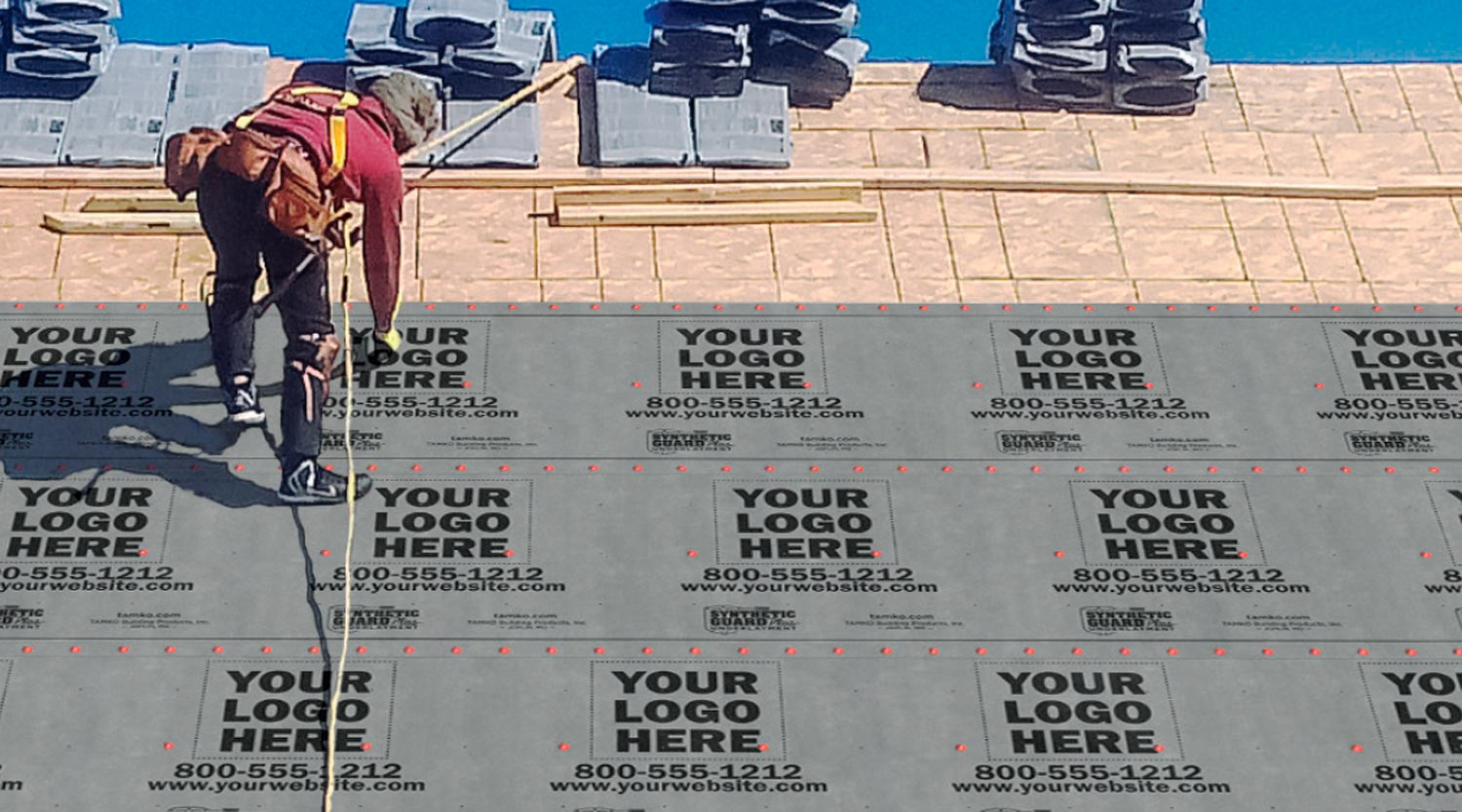 Synthetic Guard Underlayment - Your Logo Here