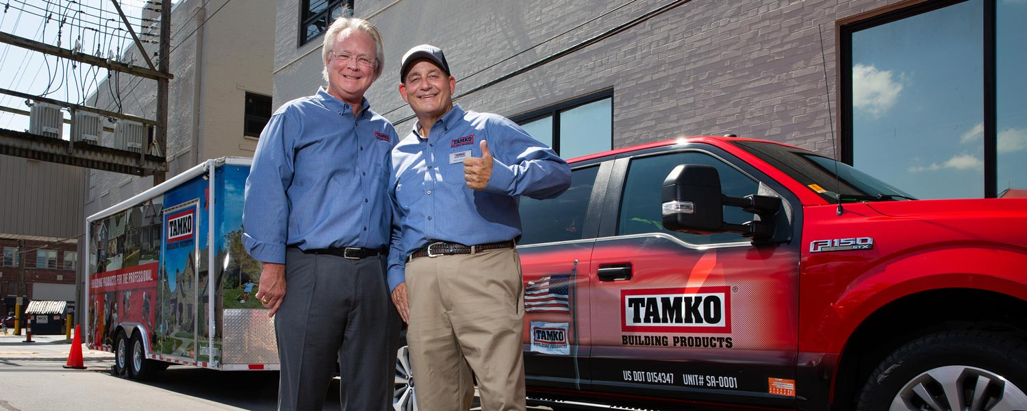TAMKO 75th Anniversary bash - David Humphreys and Rick the Roofer