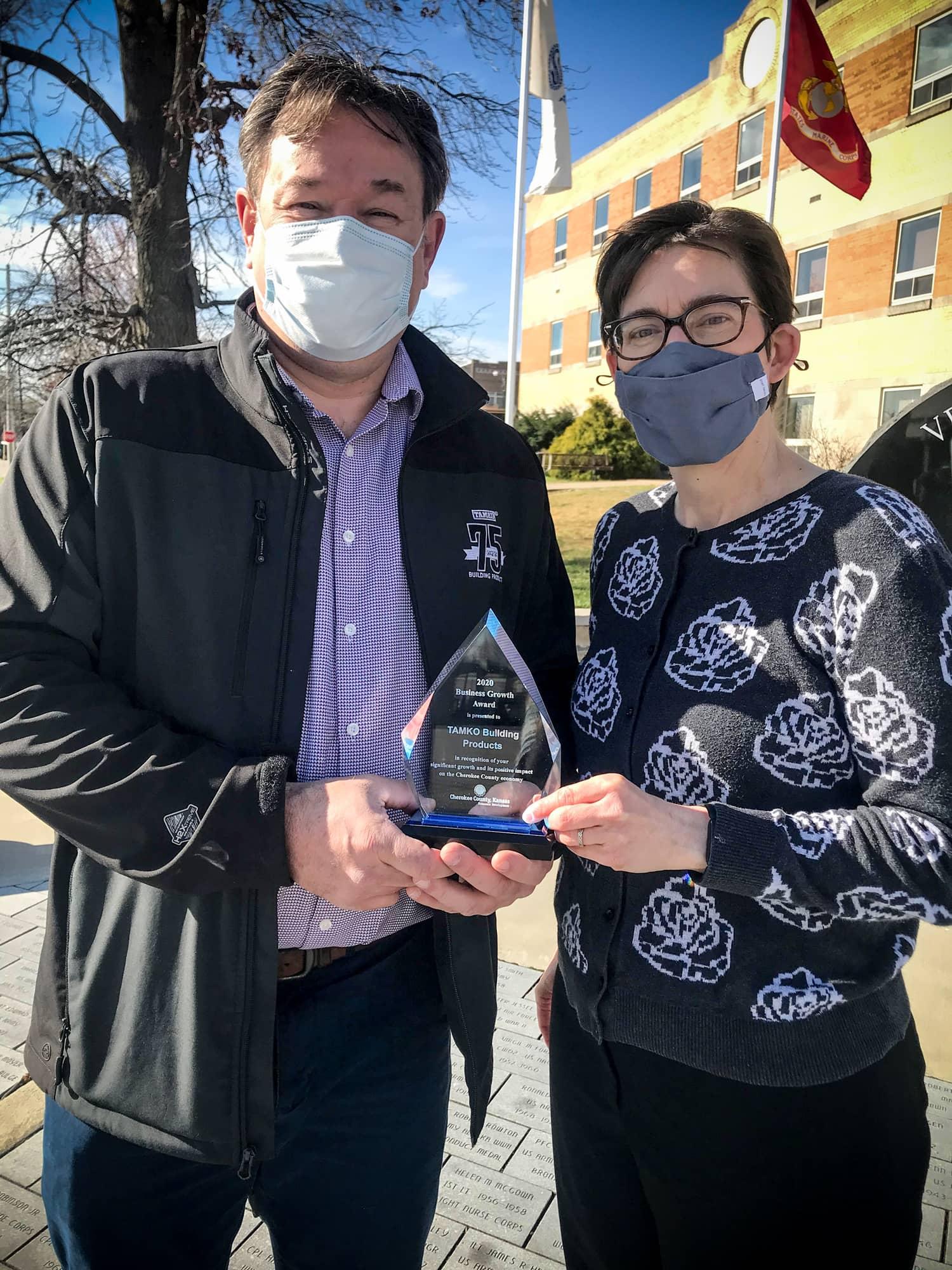TAMKO Award Presentation - Columbus KS Community Award 2020