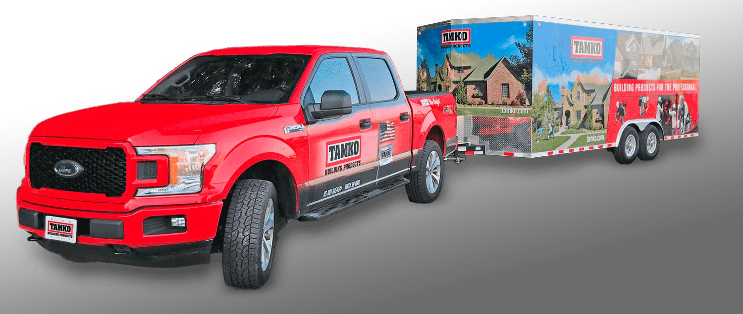 TAMKO_Rick the Roofer_Roadshow Truck & Trailer
