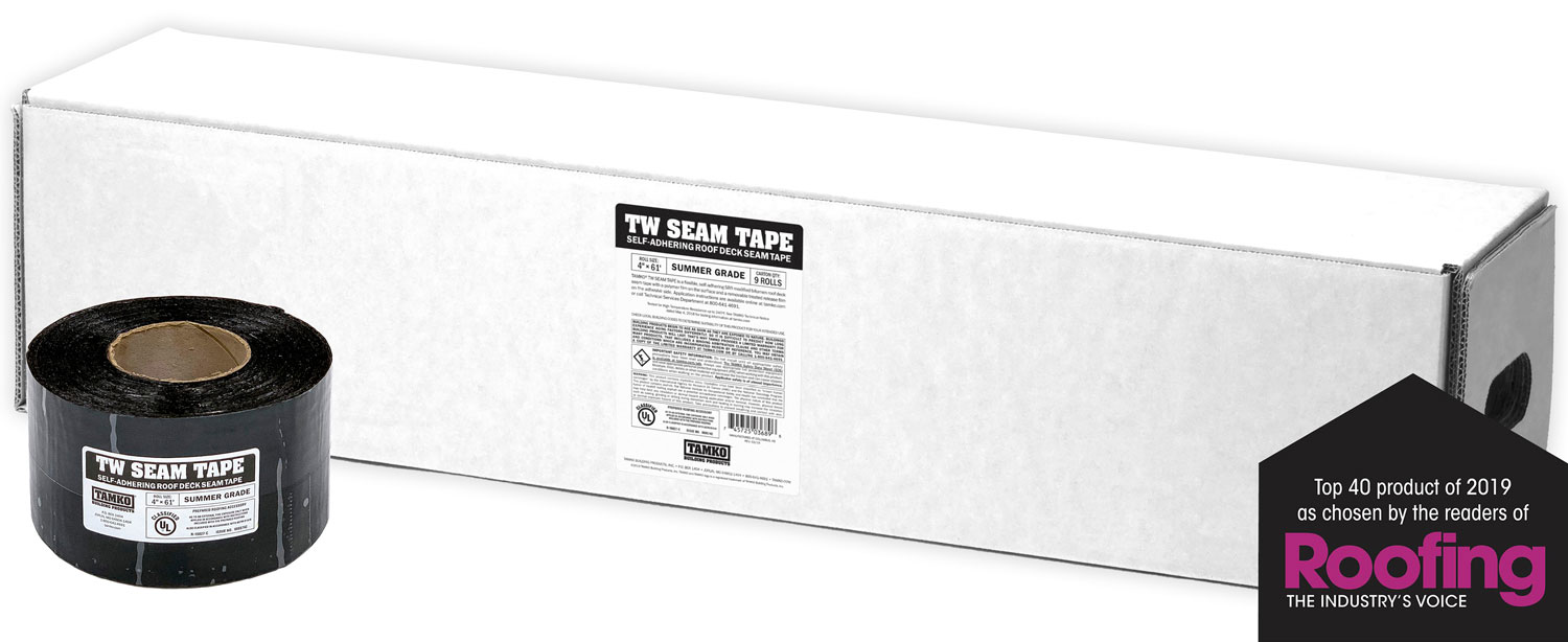 TW Seam Tape - Top 40 product of 2019 - Roofing the Industrys Voice
