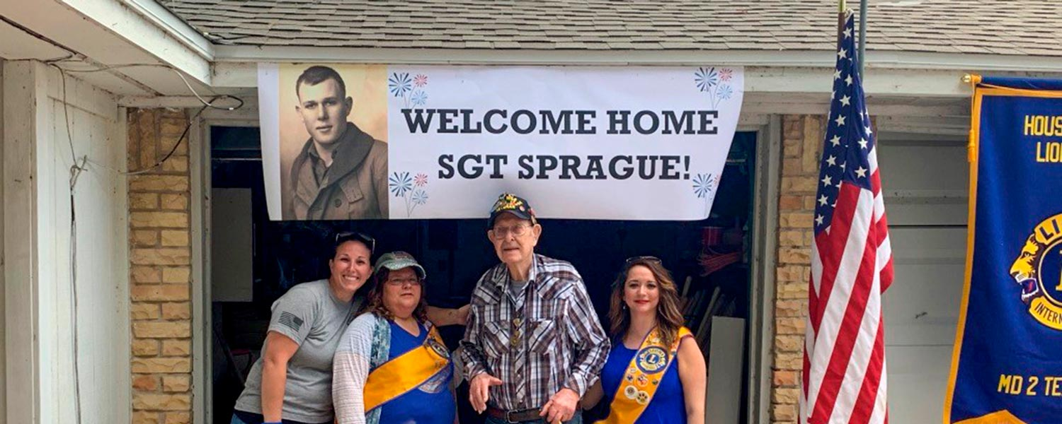 Welcome Home Sgt Sprague