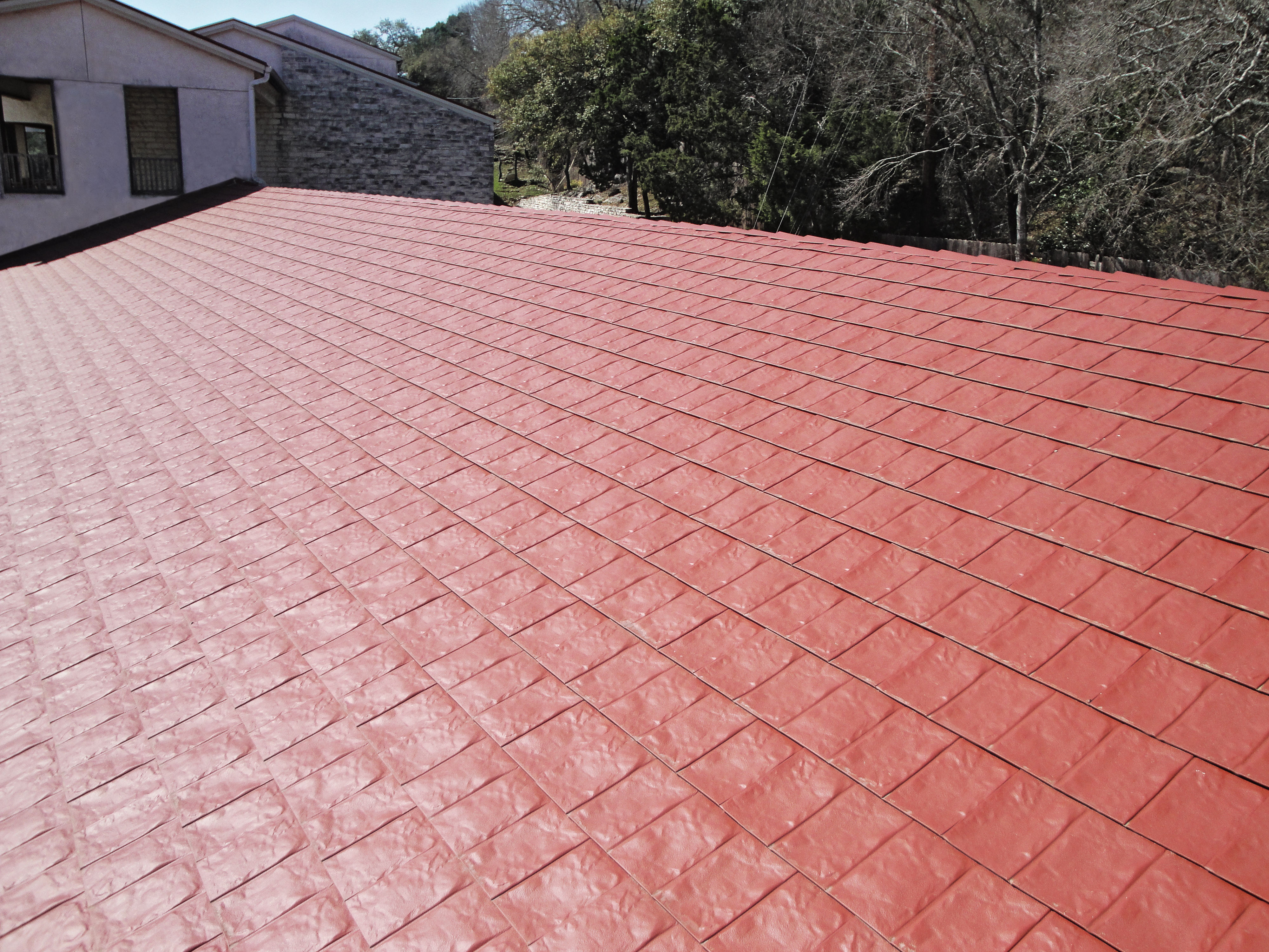 TAMKO MetalWorks StoneCrest Slate - Sequoia Red - Palisades - 03