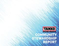 TAMKO Community Stewardship Report (PDF download)