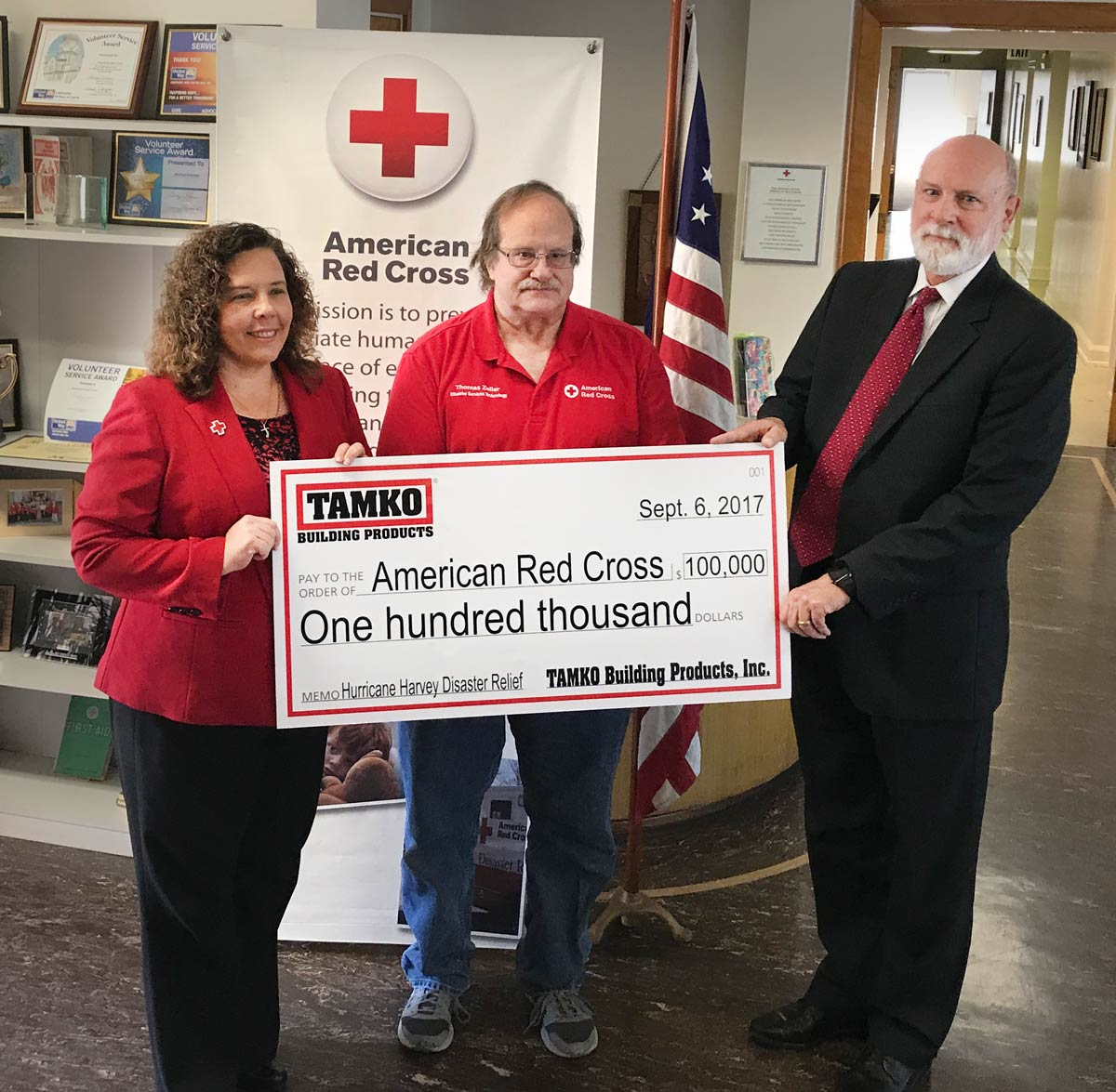 TAMKO Non-profit - Red Cross Donation 2017