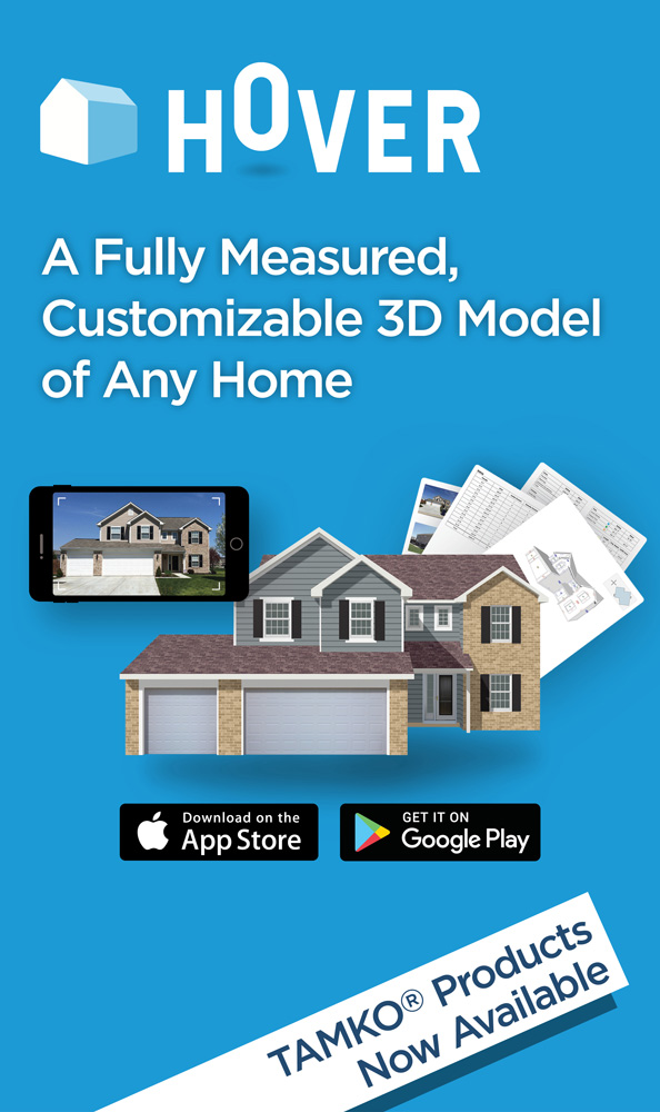 HOVER - A Fully Measured, Customizable 3D Model of Any Home - TAMKO Products Now Available