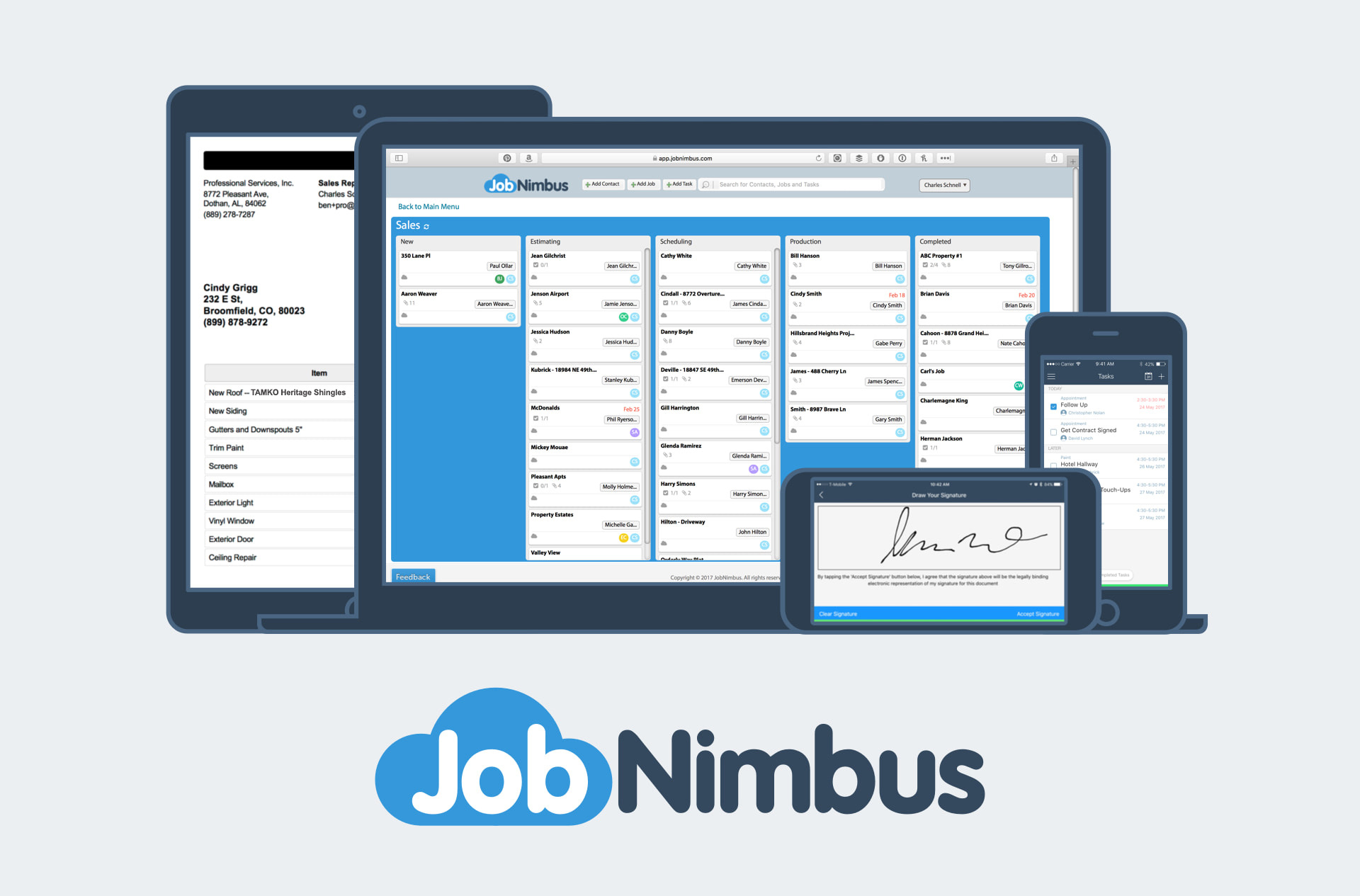 JobNimbus devices