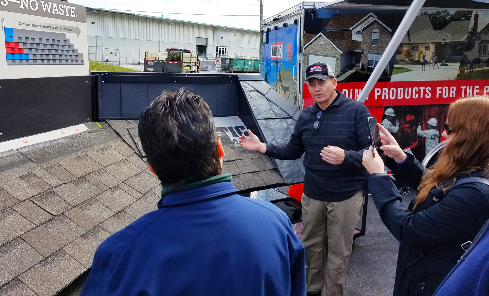 Rick the Roofer in action - 2019 Florida contractor event