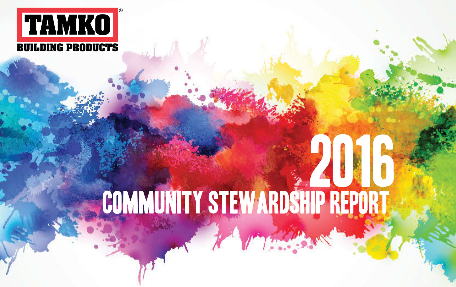 TAMKO Community Stewardship Report 2016