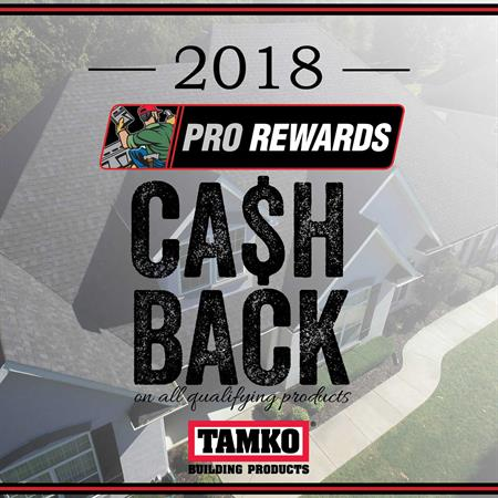TAMKO Pro Rewards - 1% Cash Back