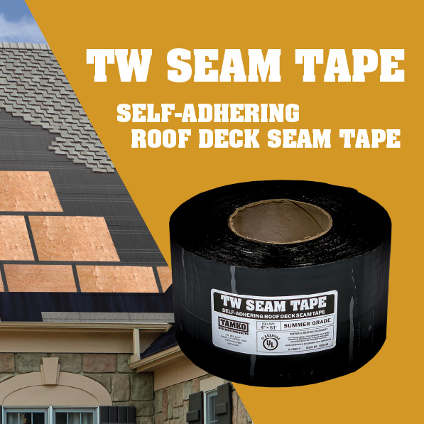 TW Seam Tape Self-Adhering Roof Deck Seam Tape
