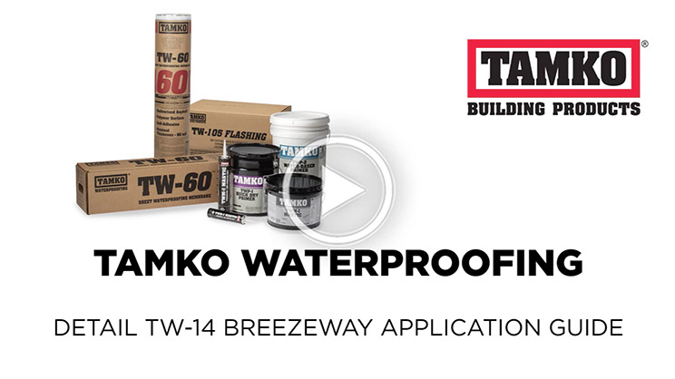 Tamko Waterproofing Balcony Breezeway